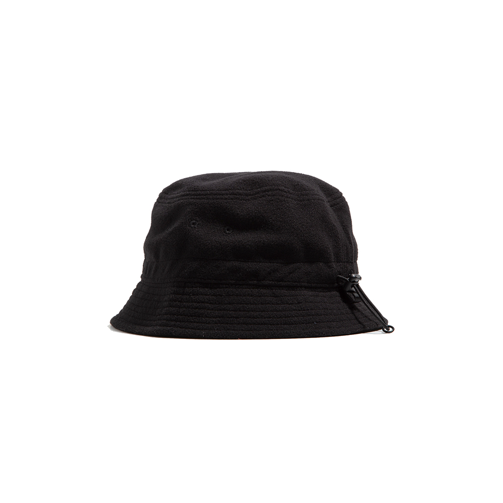 "Fleece String Bucket Hat ""BLACK""따뜻한 플리스 버킷 18FW"