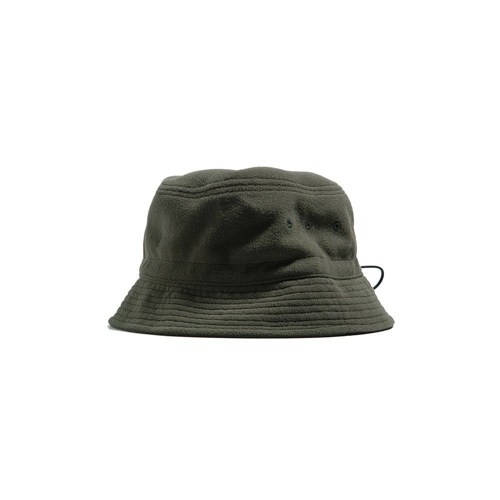 "Fleece String Bucket Hat ""KHAKI""따뜻한 플리스 버킷 18FW"