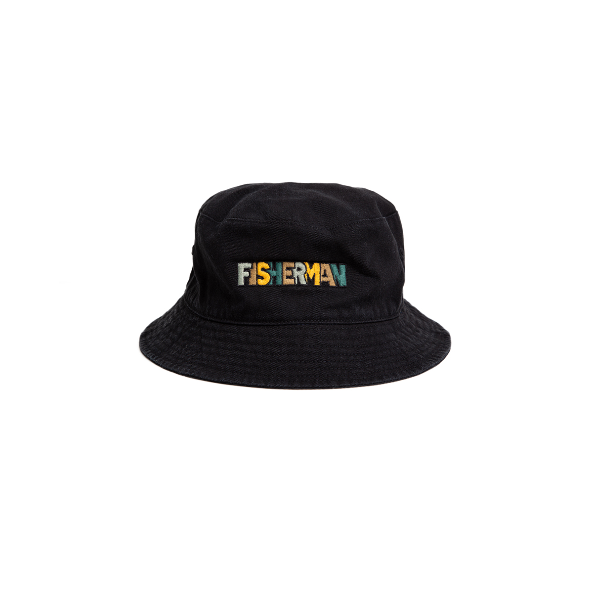 "Reversible Needle Bucket_FISHERMAN ""BLACK""자수가 촘촘히 들어간 버킷"