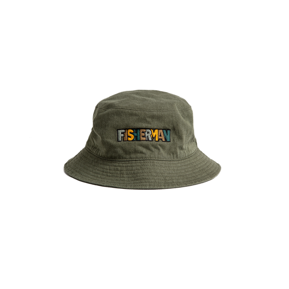 "Reversible Neelde Bucket_FISHERMAN ""KHAKI""자수가 촘촘히 들어간 버킷"