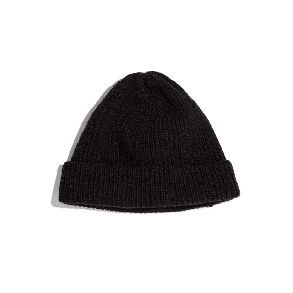 Lammbs Wool Ribbed Beanie BLACK램스울로 따뜻한 비니