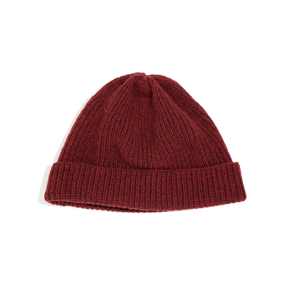 Lammbs Wool Ribbed Beanie WINE램스울로 따뜻한 비니