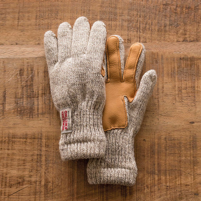 "Lined Leather Palm Glove""TRADITIONAL GREY"" 높은 보온성의 레그울 과 사슴가죽 18FW 입고"
