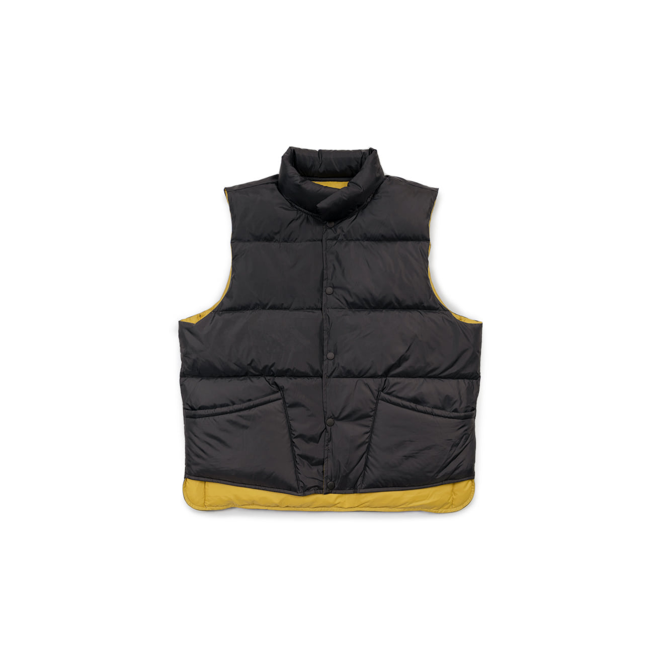 "Two Way Reversible Down Vest ""BLACK / YELLOW""양면 오리털 조끼"