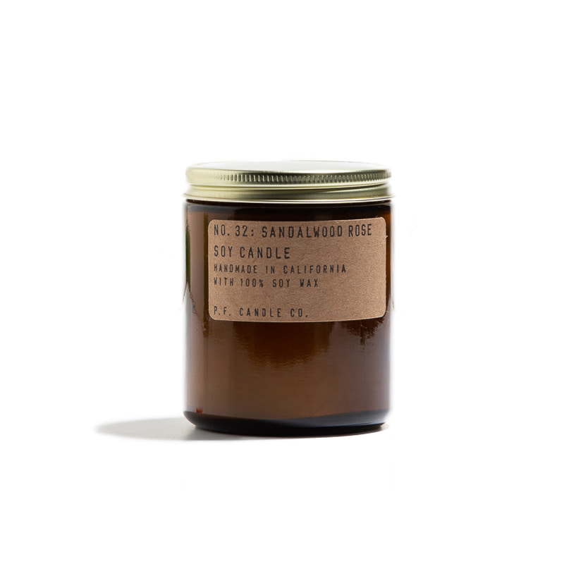 "7.2 oz Soy Candle ""SANDALWOOD ROSE"""