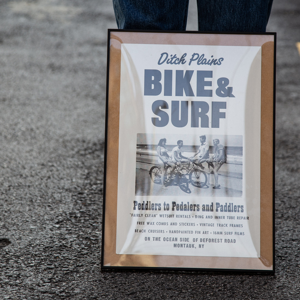 ROADSIDE SIGN POSTER - BIKE & SURF액자포함