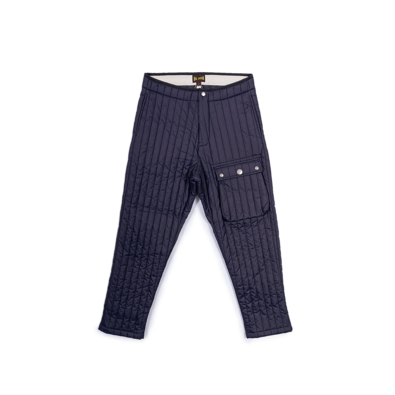 Inner Quilted Pants Navy따뜻한 패딩팬츠