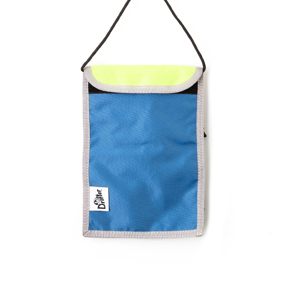 NECK POUCH - SL BLUE x FL YELLOW