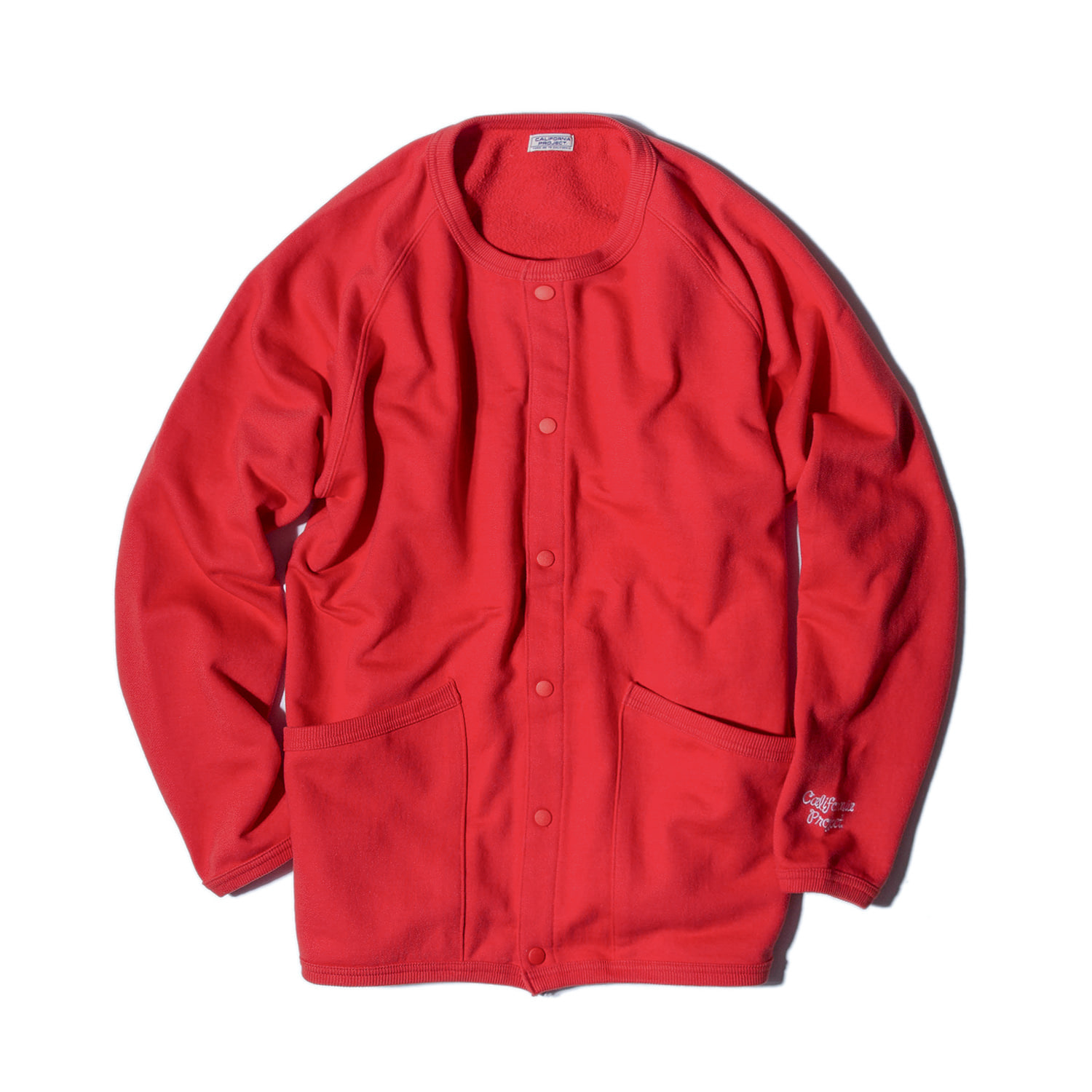 "Crewneck Sweat Cardigan ""RED"""