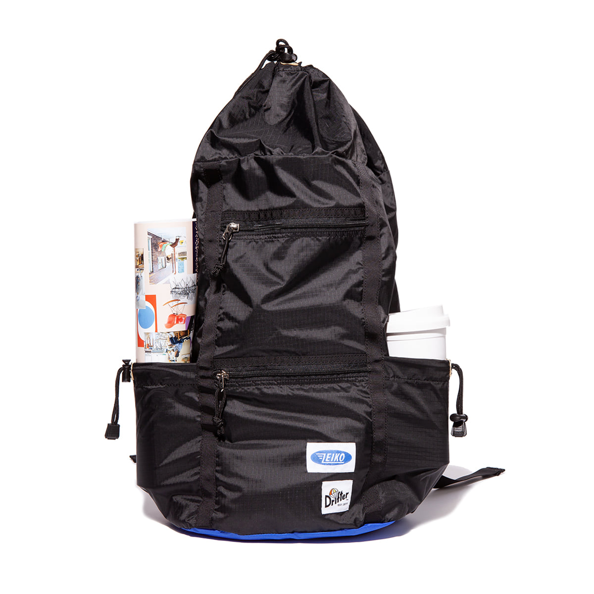 "Packable Skypack""BLACK X SLATE BLUE"""