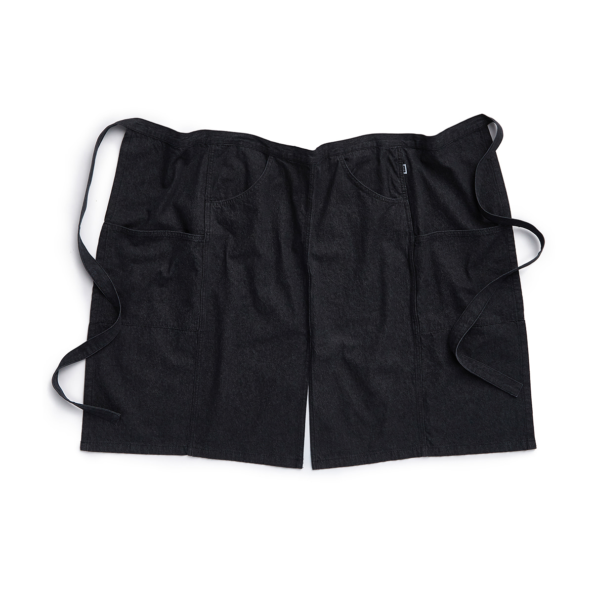 "Denim Apron Half ""BLACK DENIM"""
