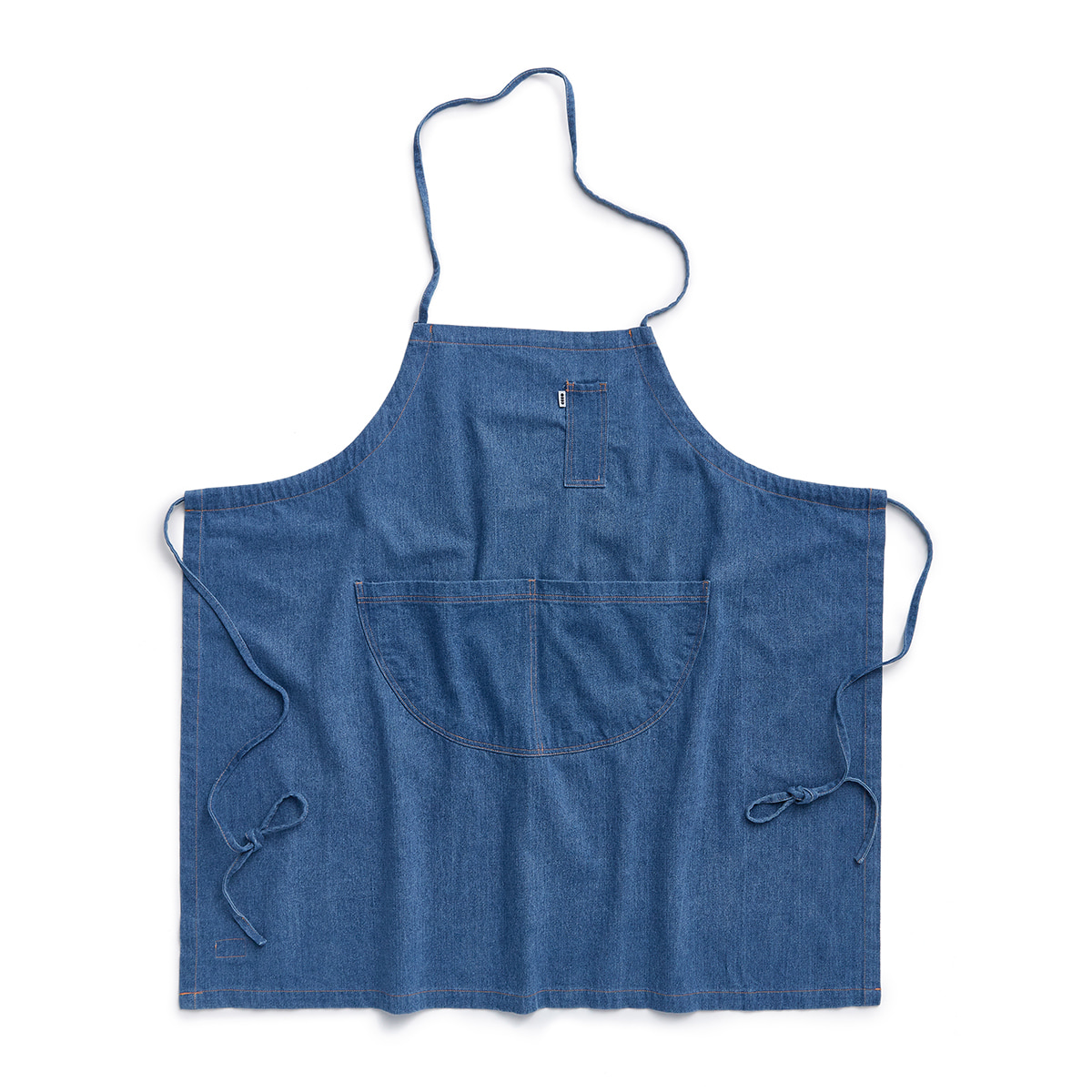 "Wash Denim Apron ""BLUE DENIM"""
