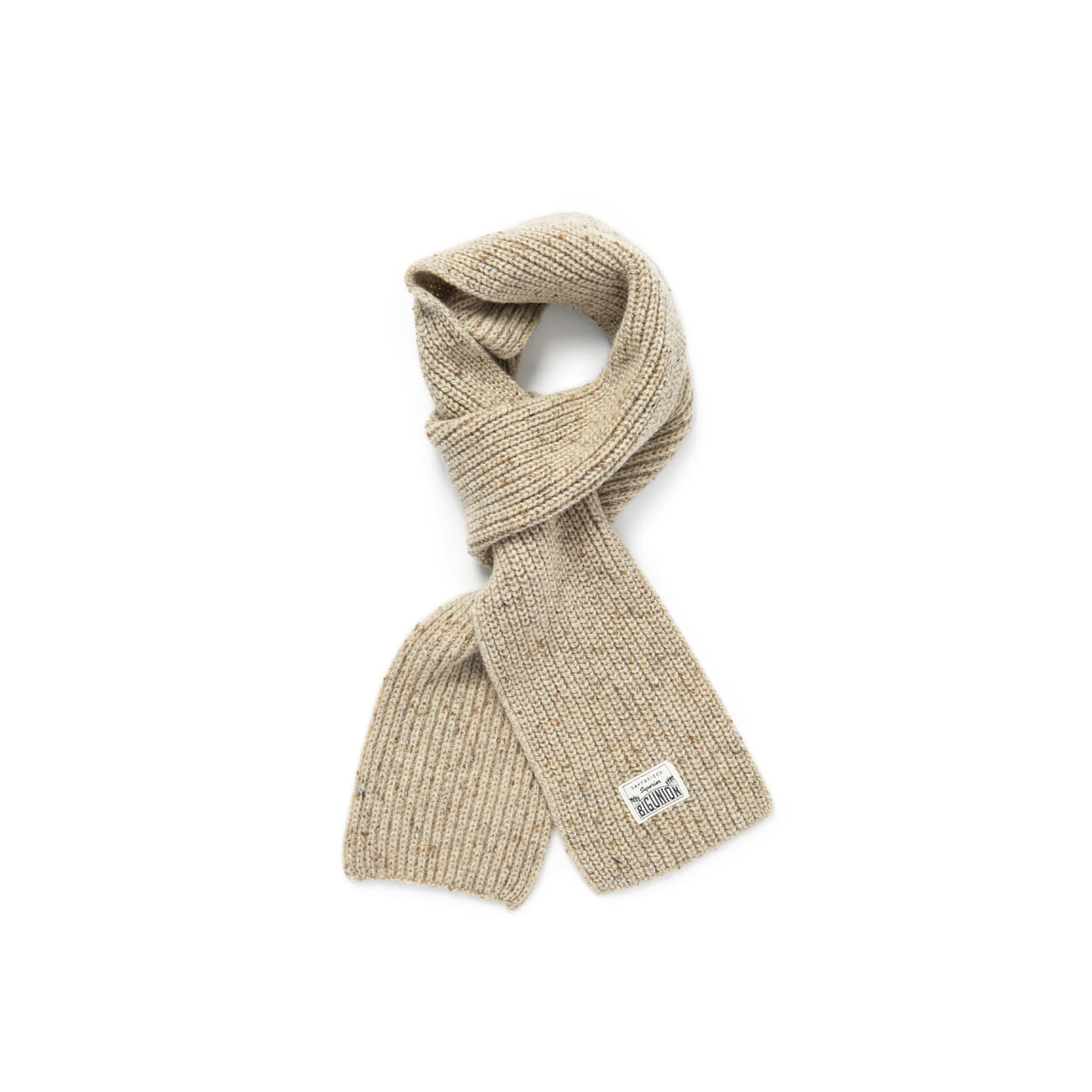"Warm Tone Wool Muffler ""OATMEAL"""