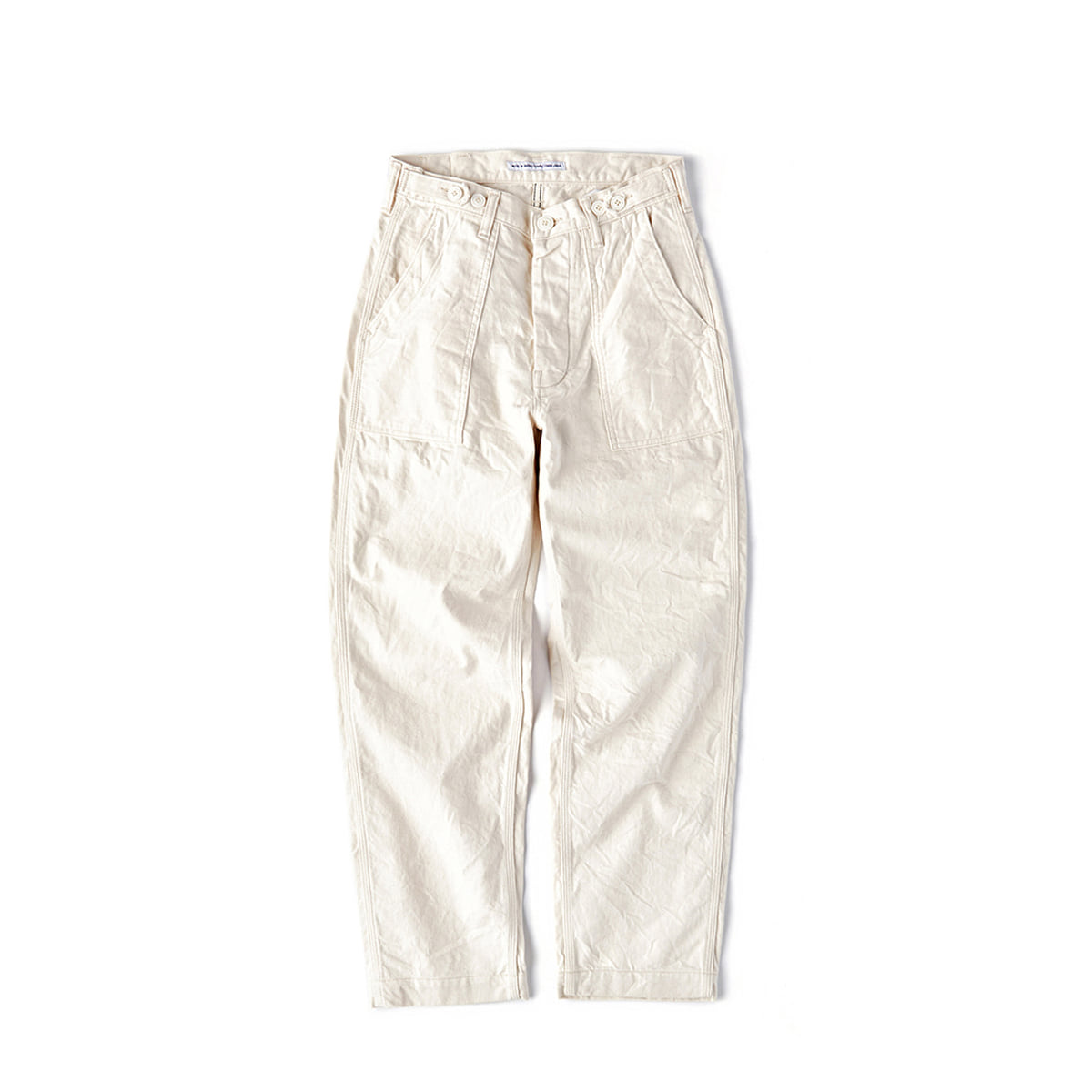 CWE-003 4POCKETS ECRU FATIGUE PANTS