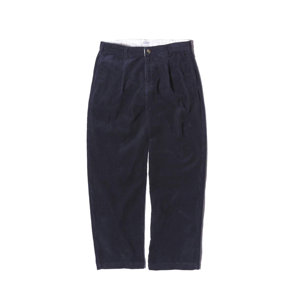 "One Tuck Corduroy Pants ""NAVY"""