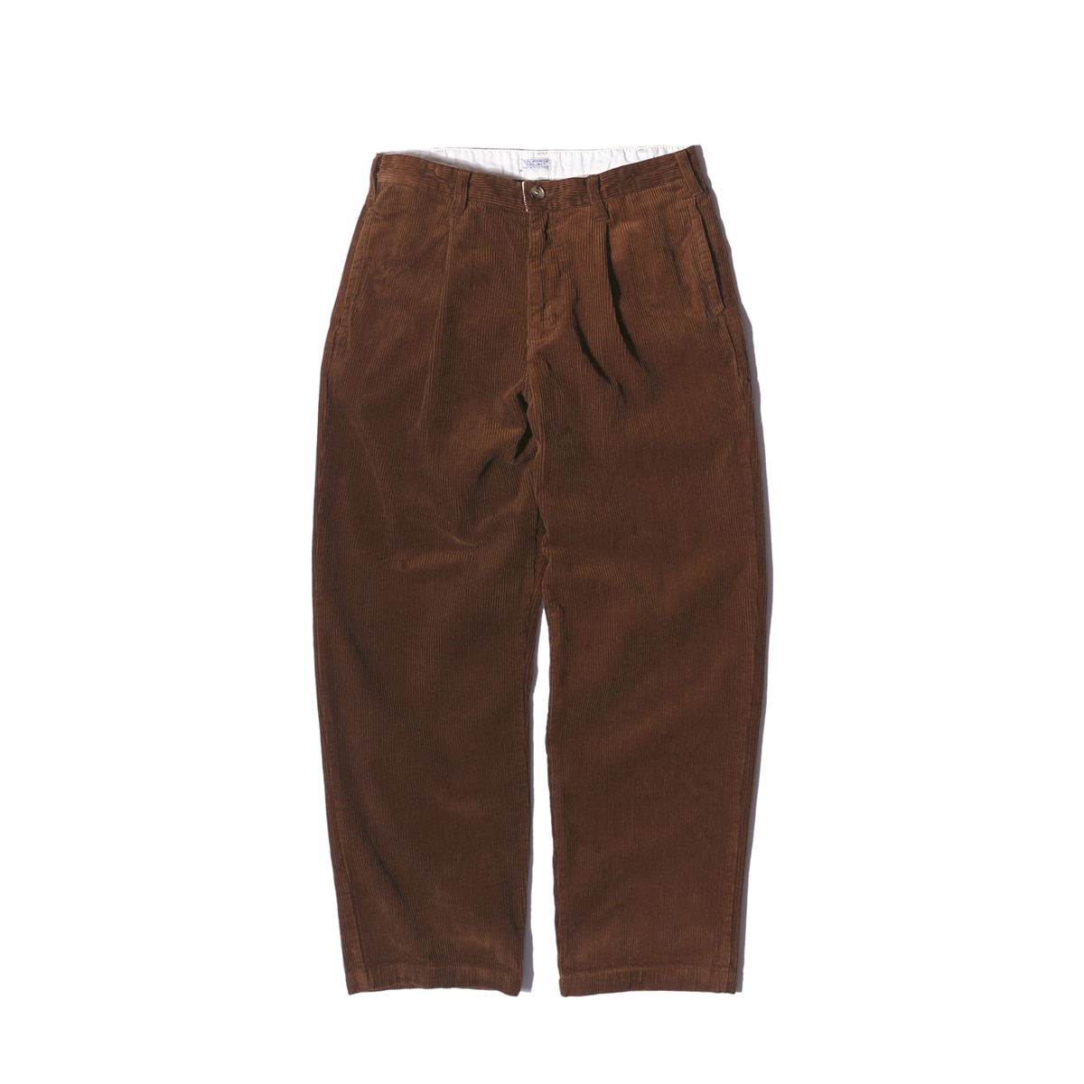 "One Tuck Corduroy Pants ""BROWN"""
