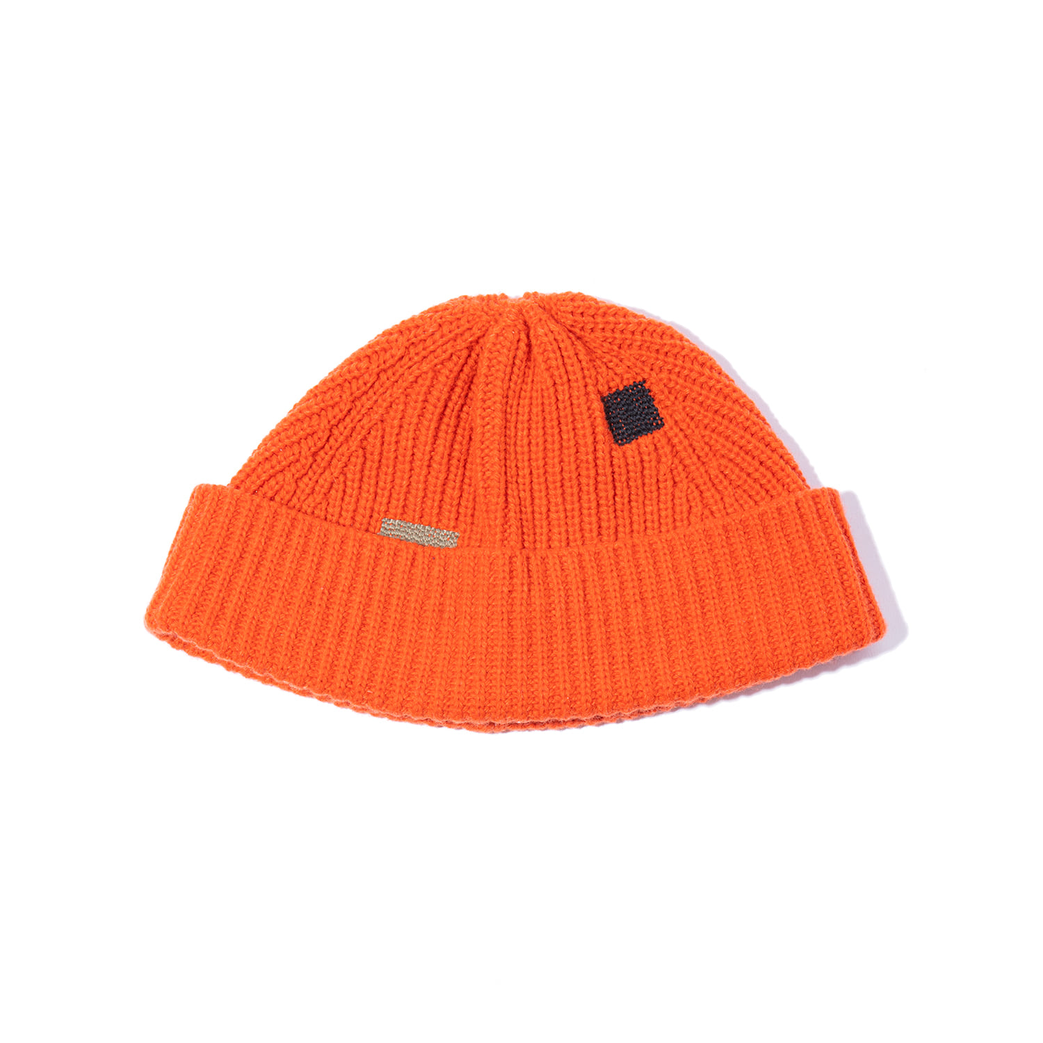 "Vintage Effect Wool Beanie ""ORANGE"""