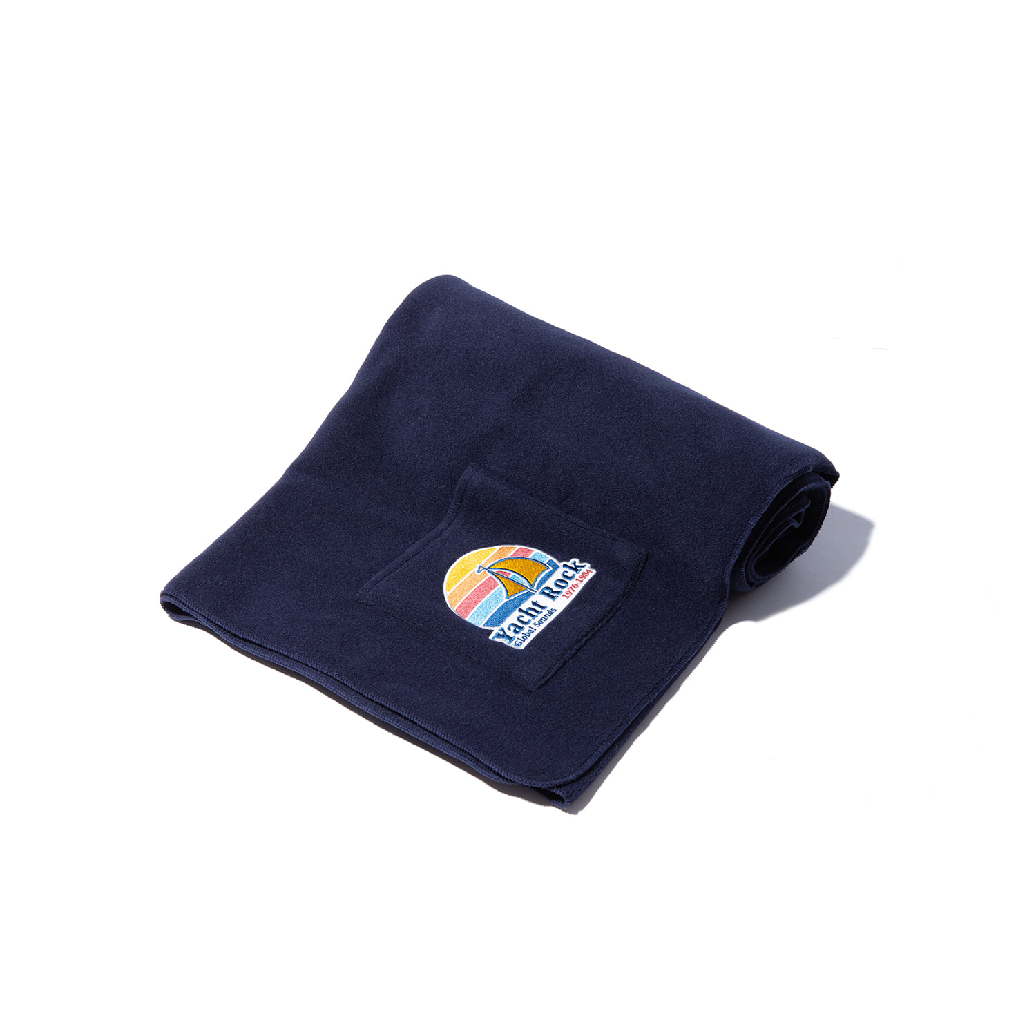 "Fleece Pocket Blanket ""NAVY"""