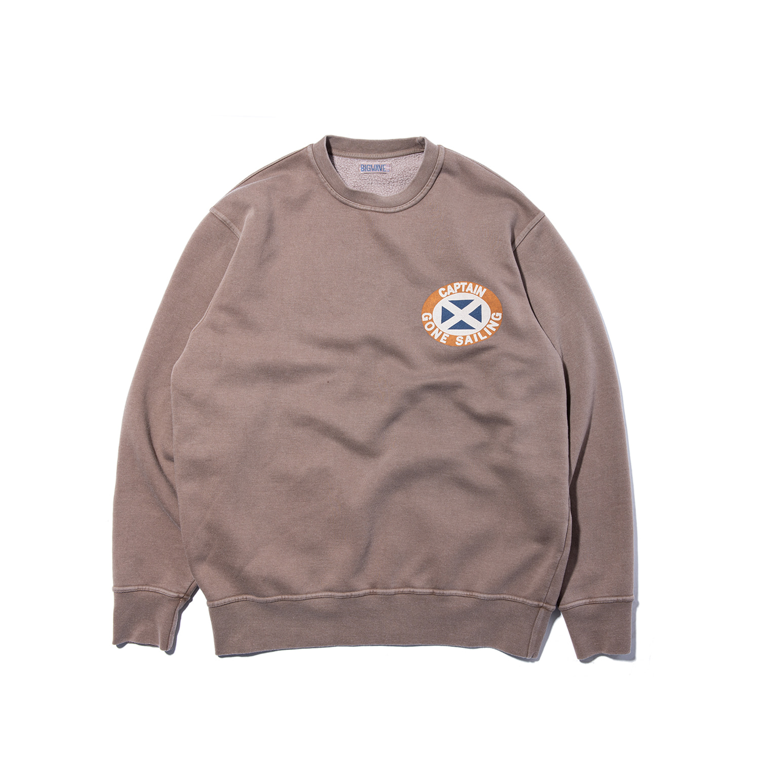 "Captain Gone Sailing Sweat ""NIGHT BROWN"""