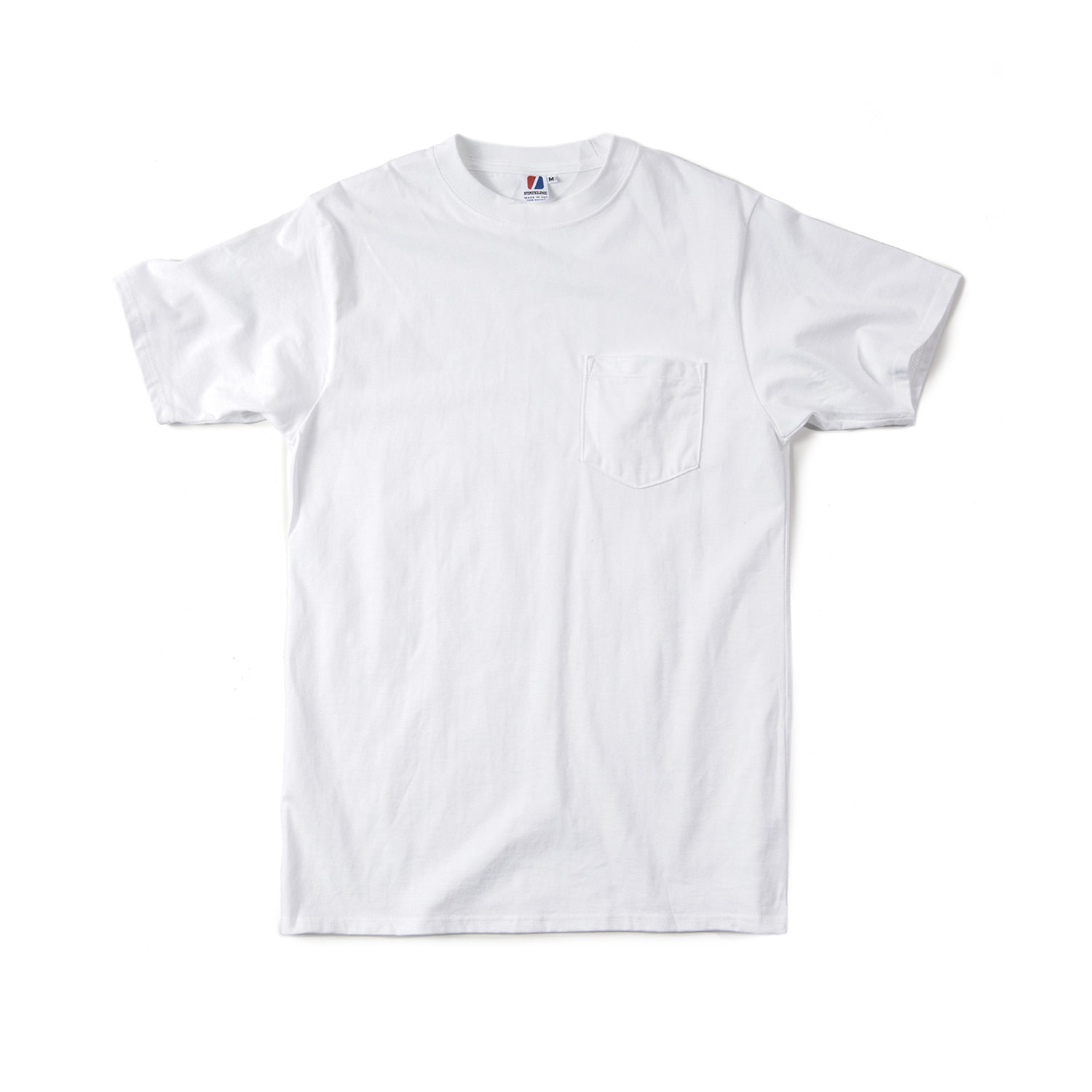 "Jersey S/S Pocket Tee ""WHITE"""