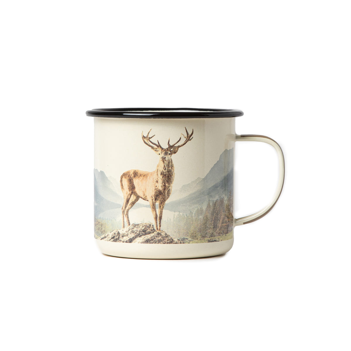 "Great Enamel Mug ""DEER"""