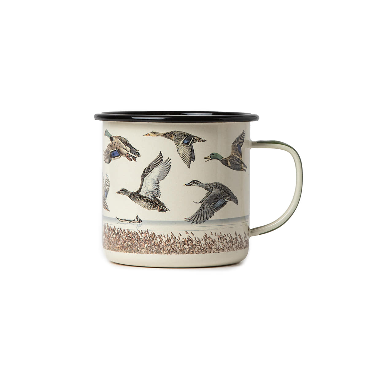 "Great Enamel Mug ""LAKE & DUCK"""