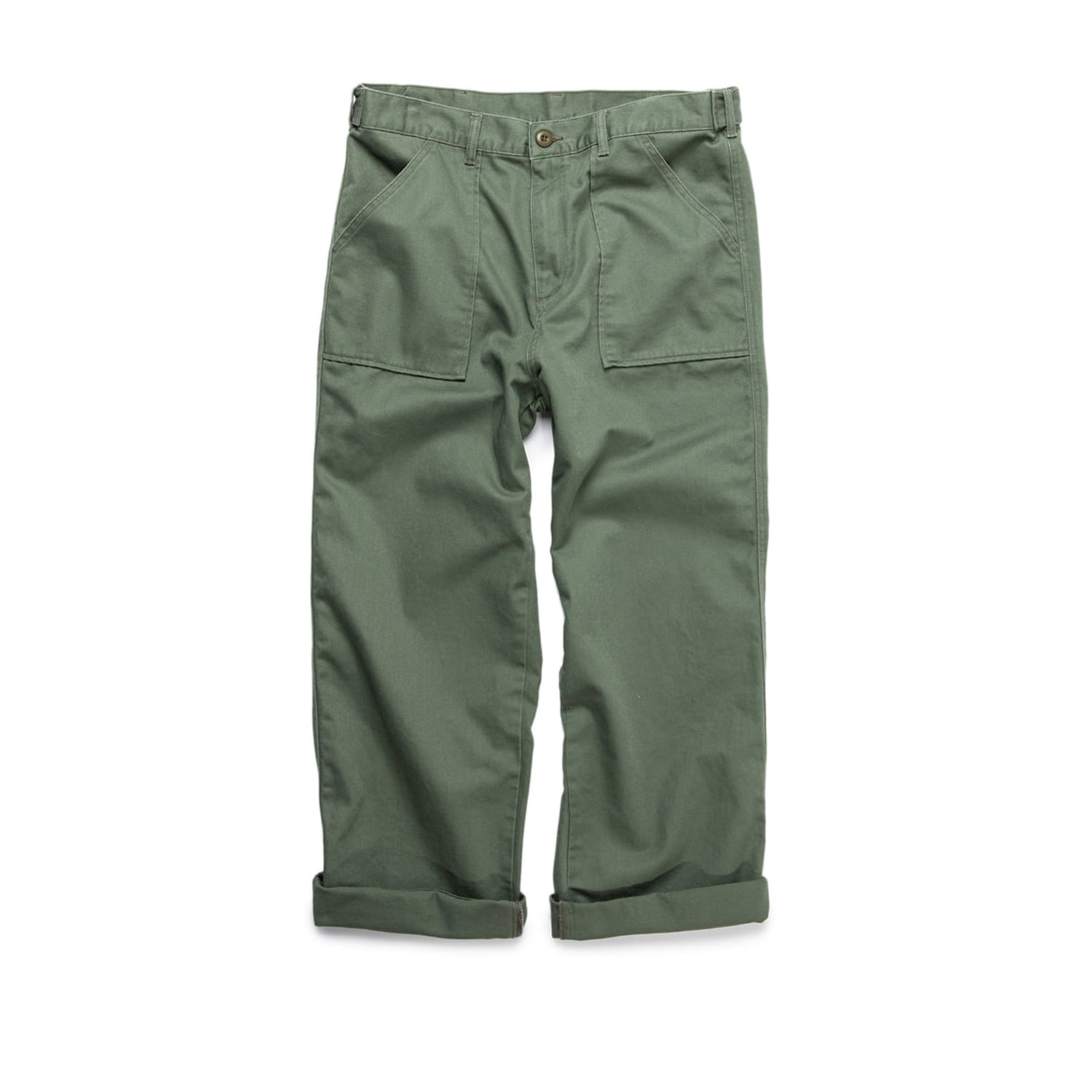 "Stan Ray Washed Wide Leg Fatigue ""OLIVE SATEEN"""