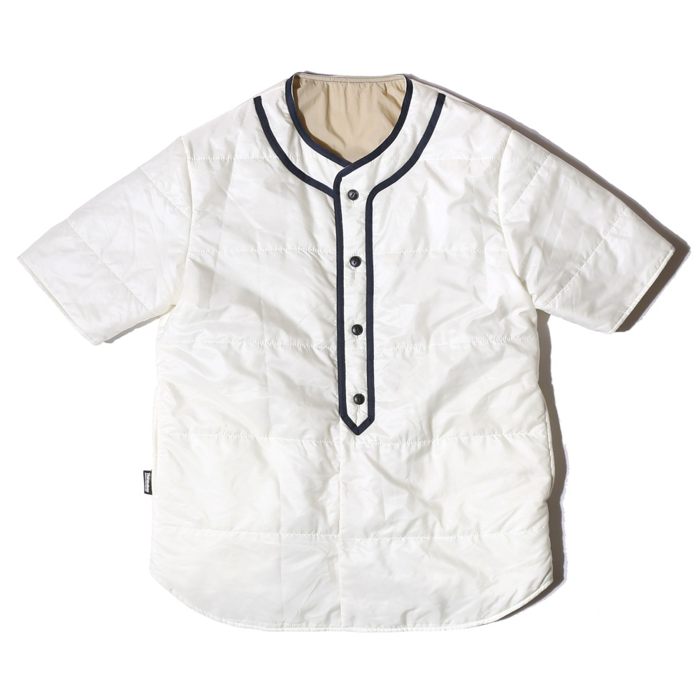 "Reversible Baseball Padding Shirts ""IVORY/BEIGE"""