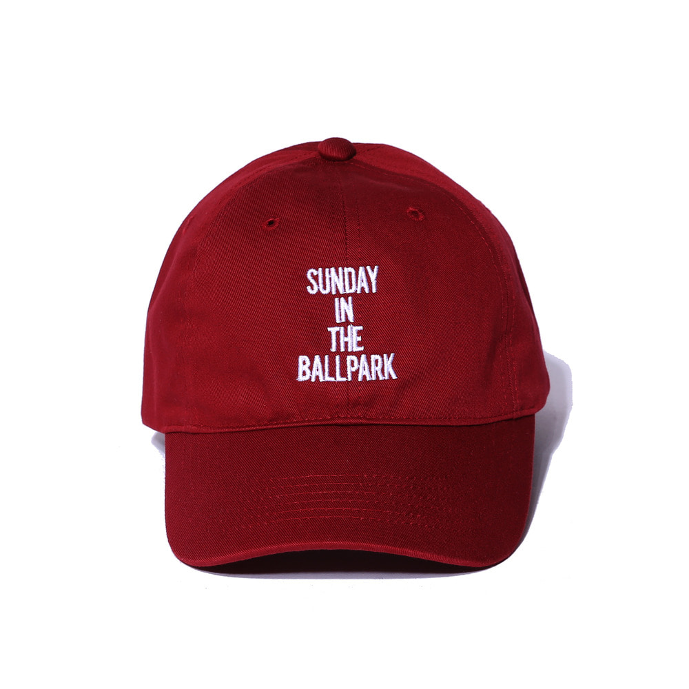 "Sunday Ballpark Cap ""BURGUNDY"""