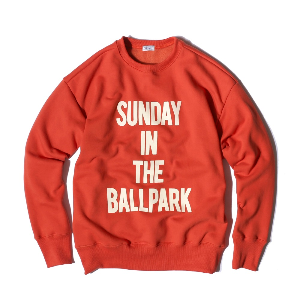 "Sunday Ballpark Sweatshirts ""ORANGE RED"""