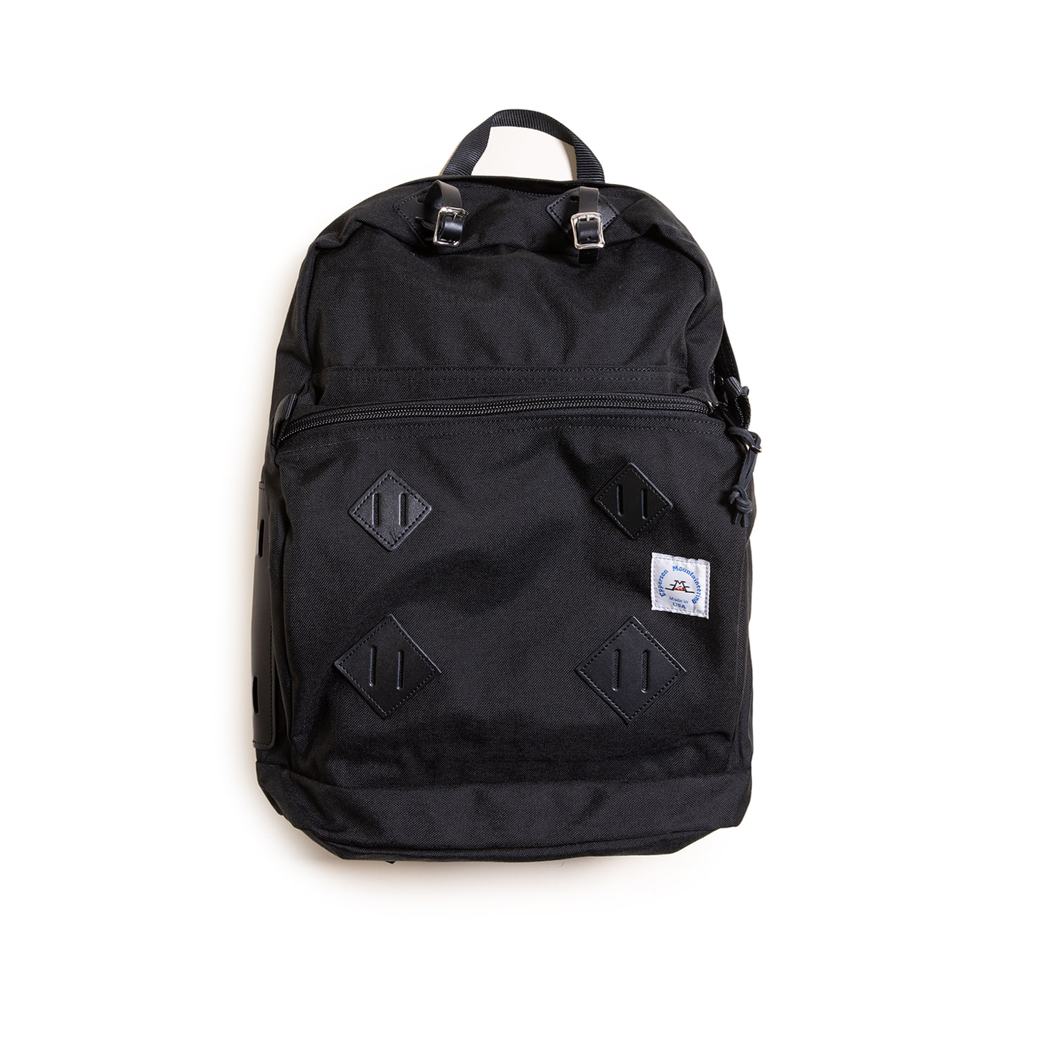 "Day Pack With Leather Patch ""RAVEN"""