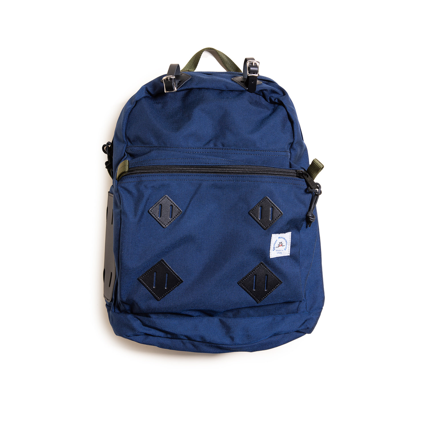 "Day Pack With Leather Patch ""MIDNIGHT"""