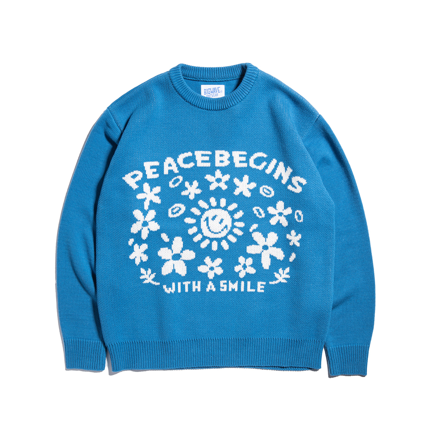 "Peace Begins SS Knit ""BLUE"""