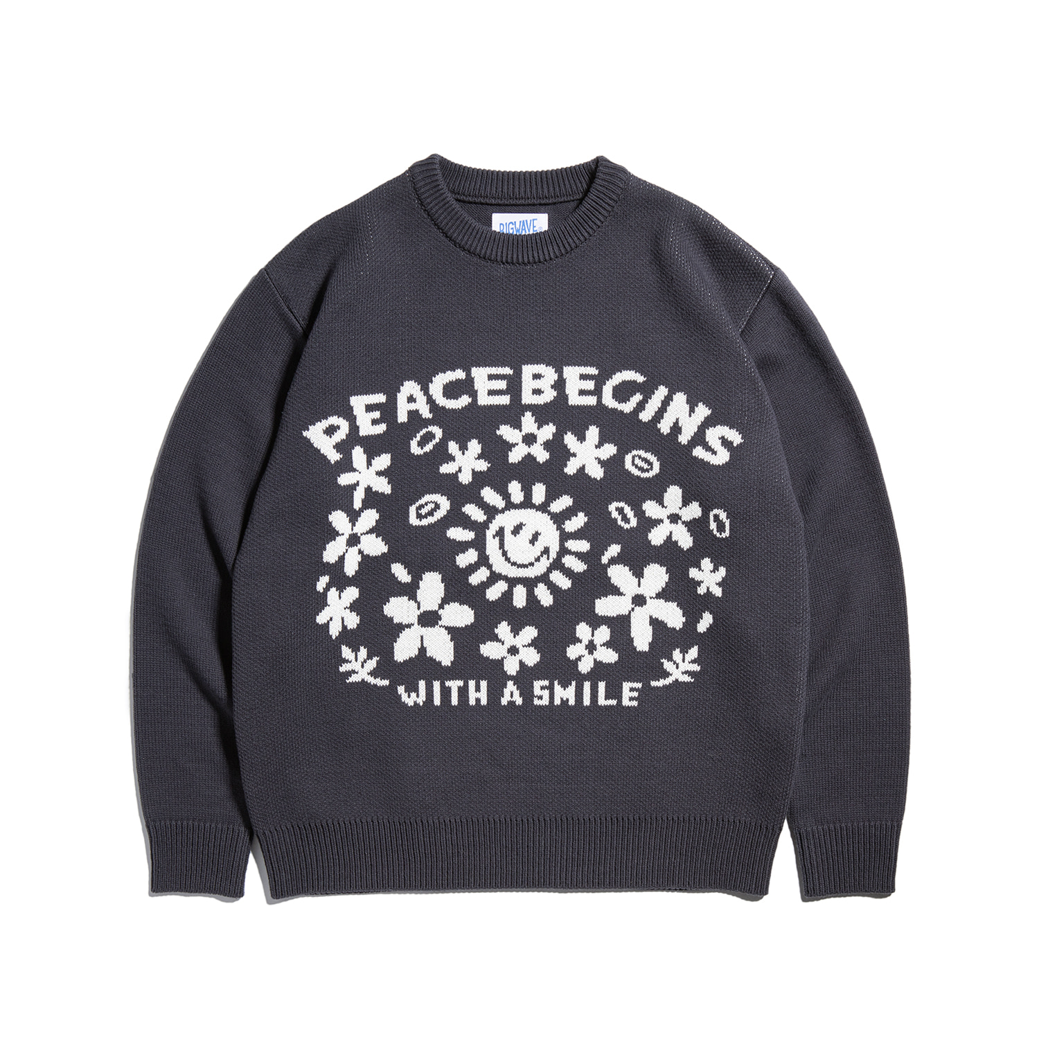 "Peace Begins SS Knit ""BLACK"""