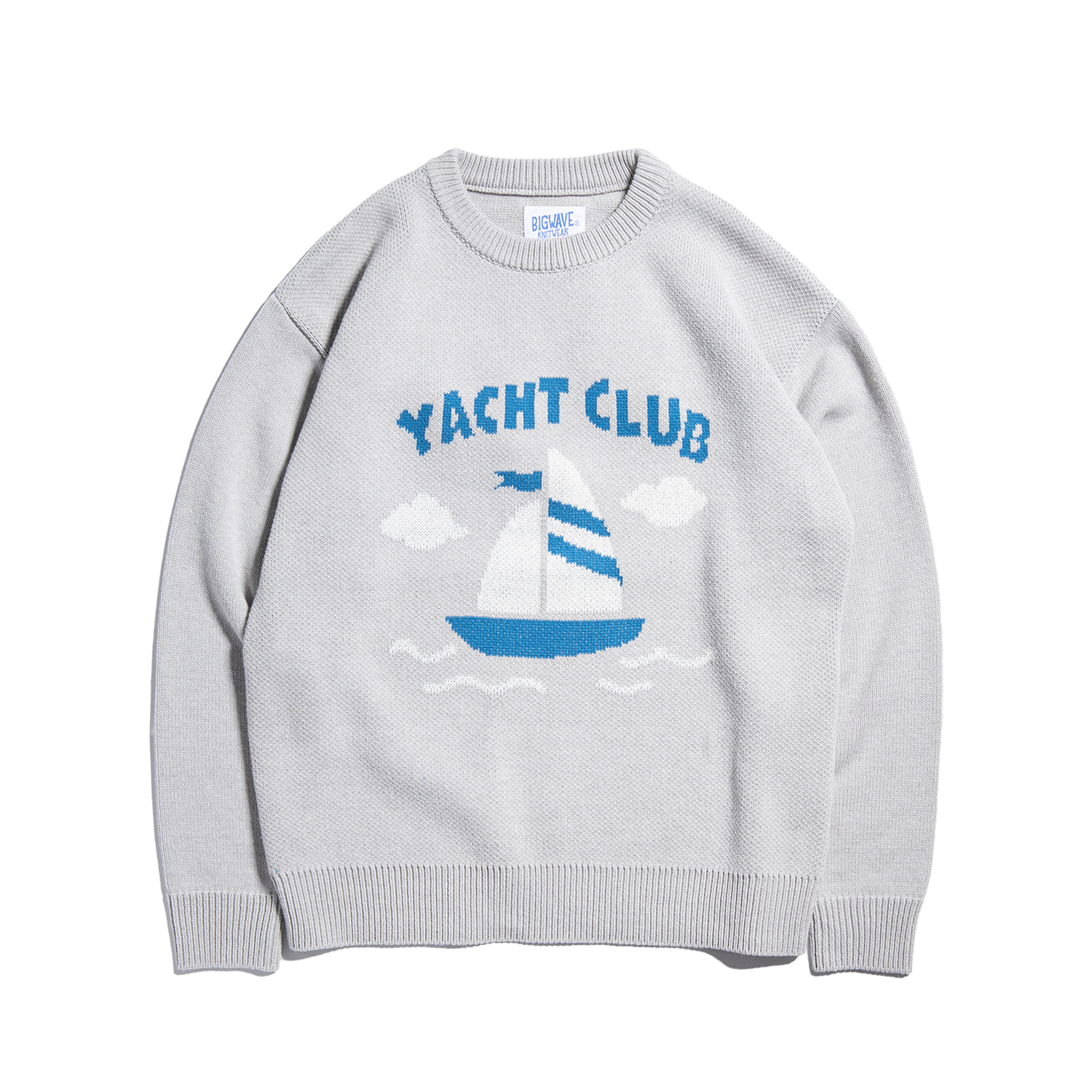 "Yacht Club Knit ""SEA GRAY"""