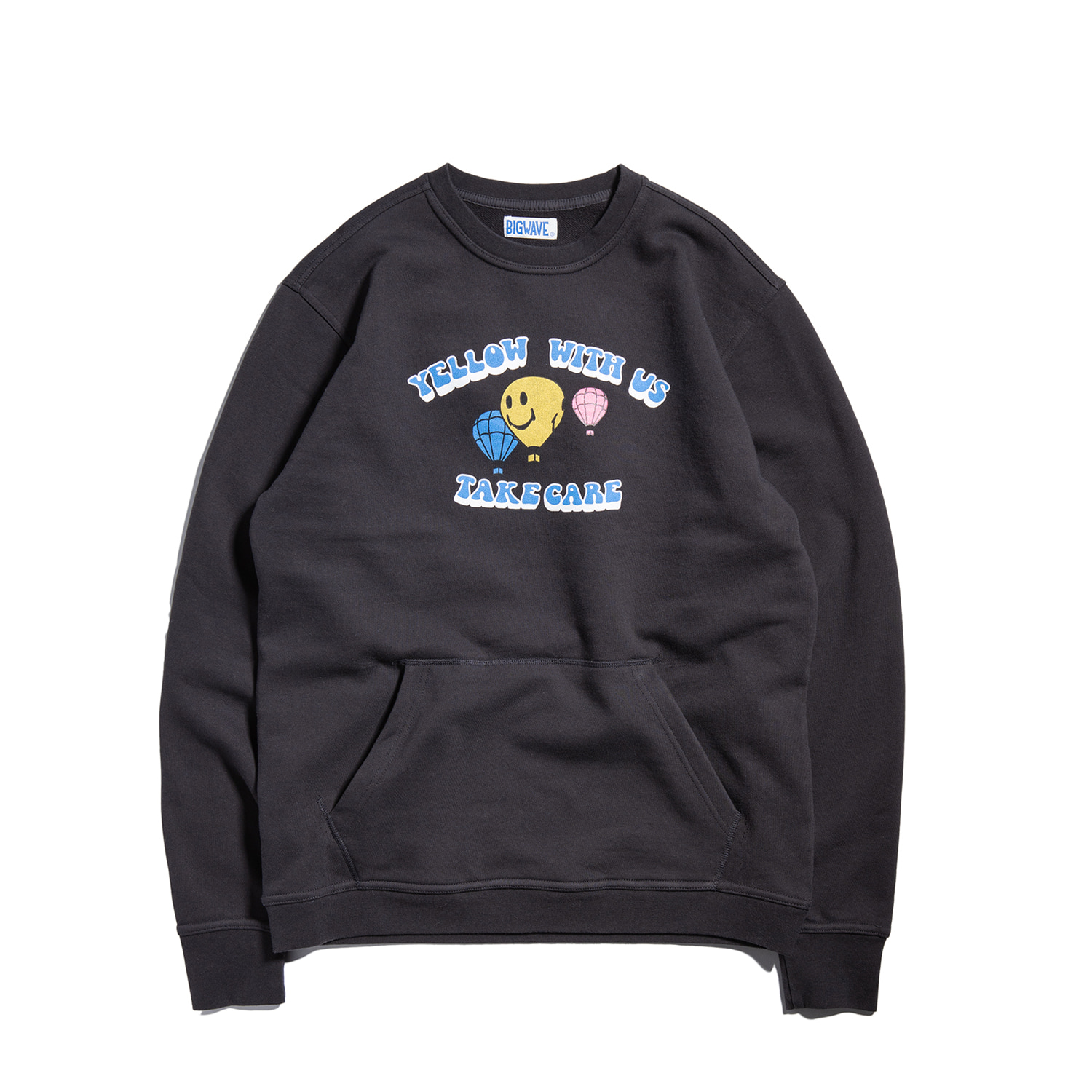 "Yellow With Us Pocket Sweat ""OCEAN BLACK"""
