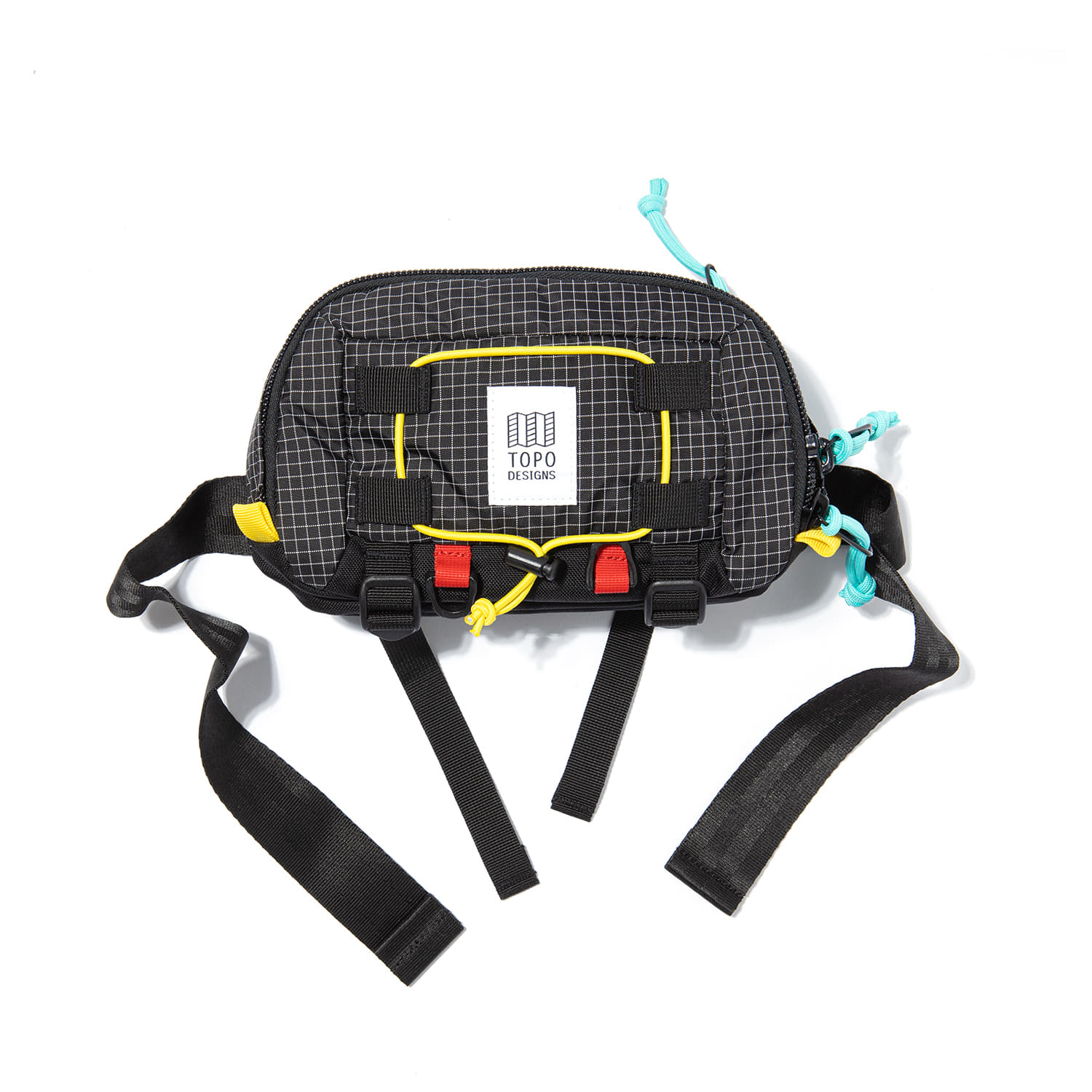 "Subalpine Hip Pack ""BLACK/WHITE RIPSTOP"""