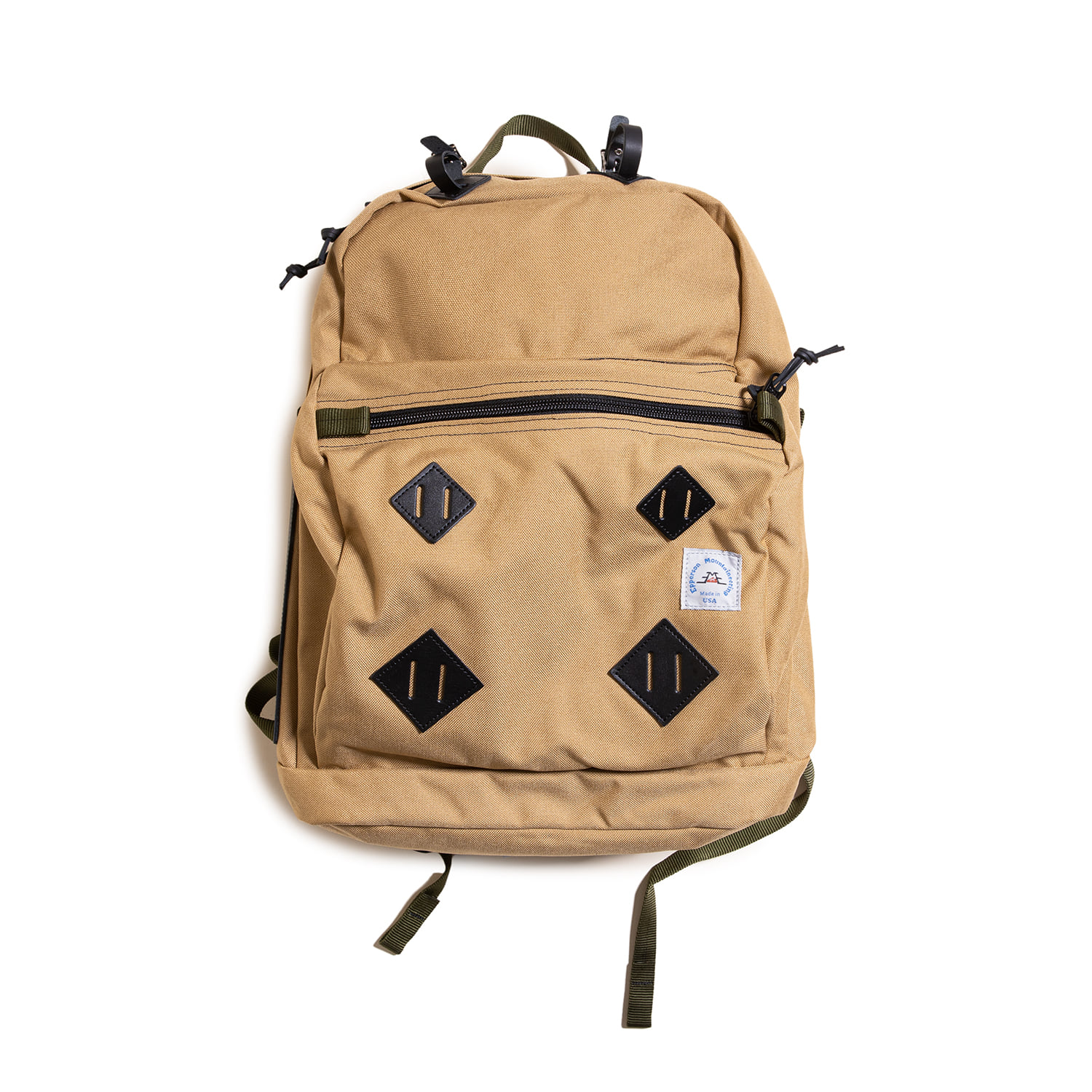 "Day Pack With Leather Patch ""SANDSTONE"""