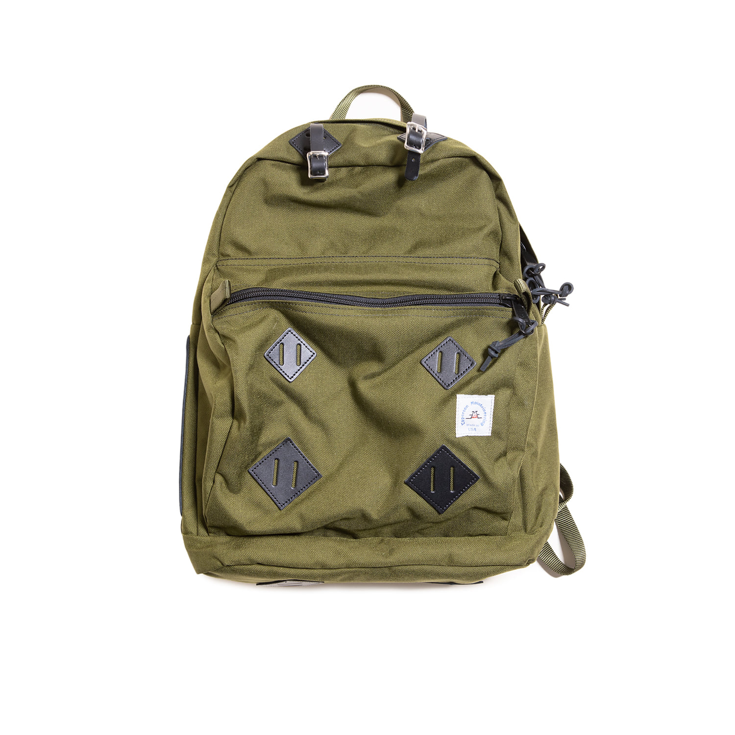 "Day Pack With Leather Patch ""MOSS"""