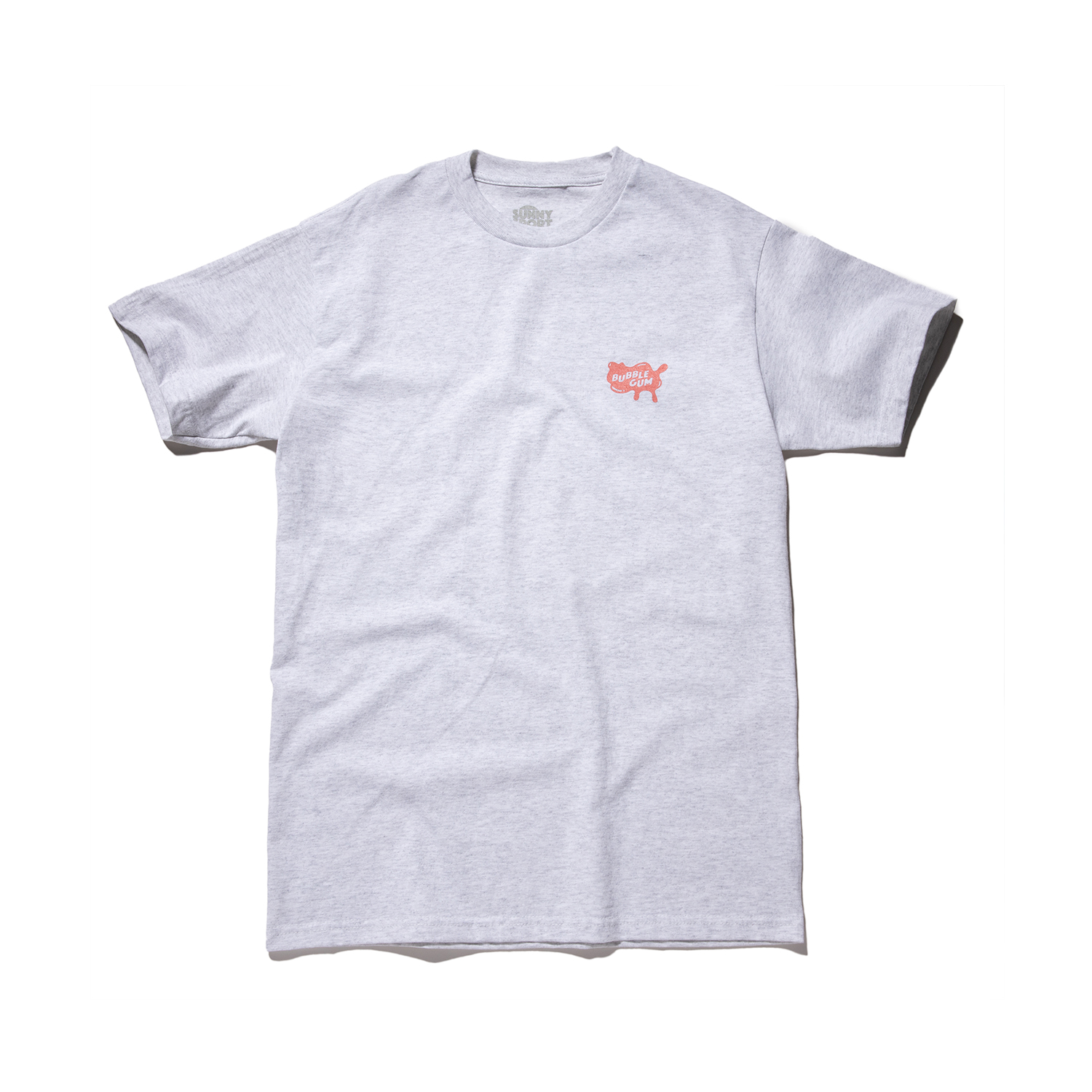 "Bubble Gum Tee ""ASH GREY"""