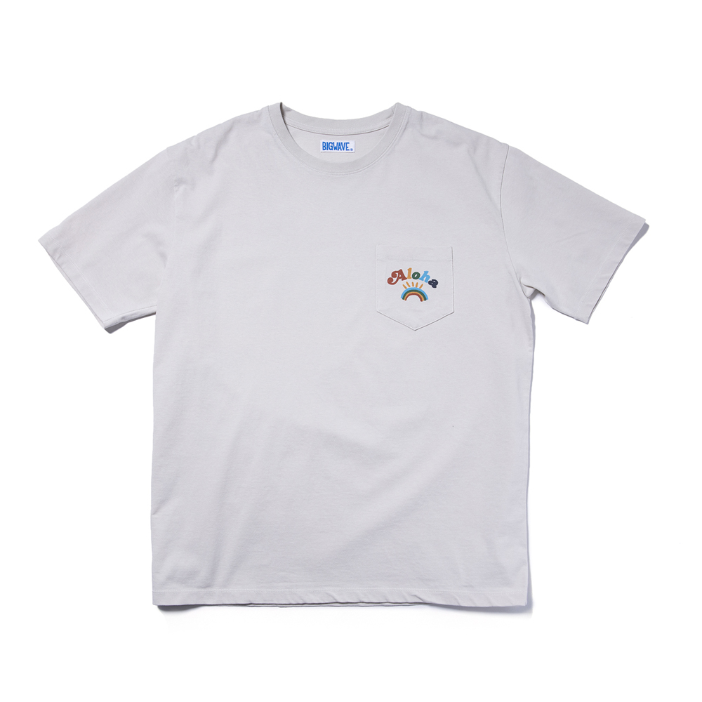 "Aloha Rainbow Pocket Tee ""NATURAL SAND"""